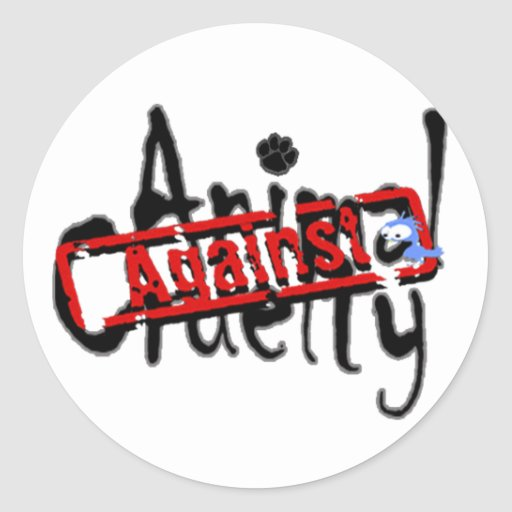 Against Animal Cruelty Stickers