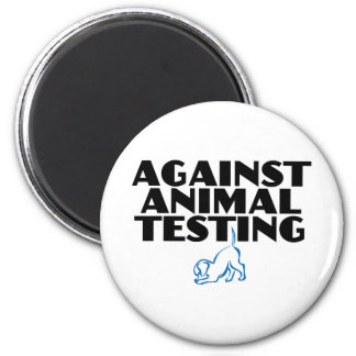 Against Animal Testing 2 Inch Round Magnet