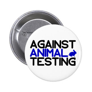 Against Animal Testing Button