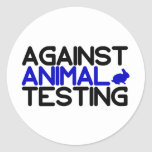 Against Animal Testing Classic Round Sticker