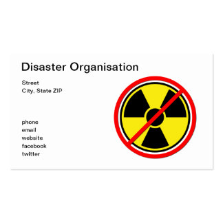 Against Atomic Power! Business Card