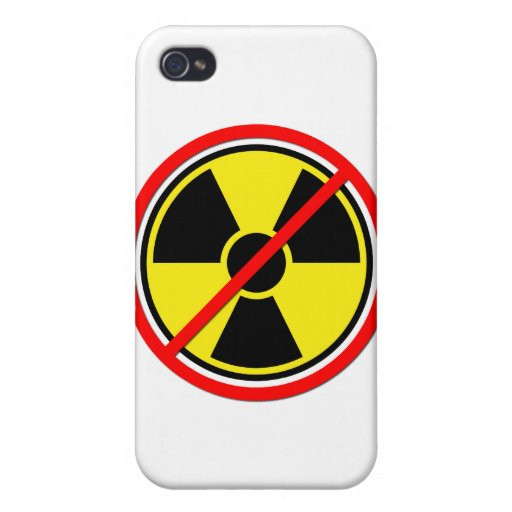 Against Atomic Power! Cover For iPhone 4