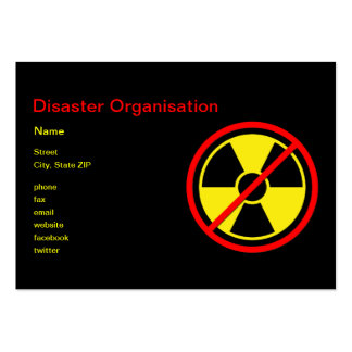 Against Atomic Power! Large Business Card