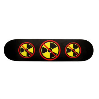 Against Atomic Power!Yellow sign against radiation Skateboard Deck