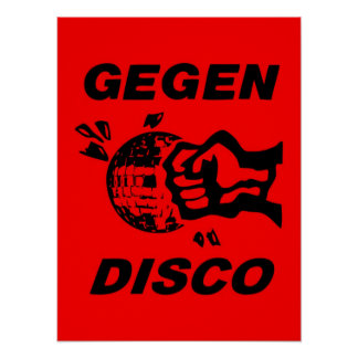 Against disco (black + talk) poster