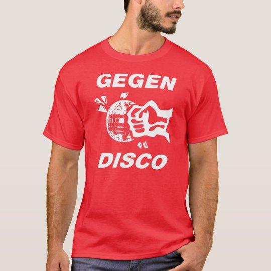Against disco (print white) T-Shirt