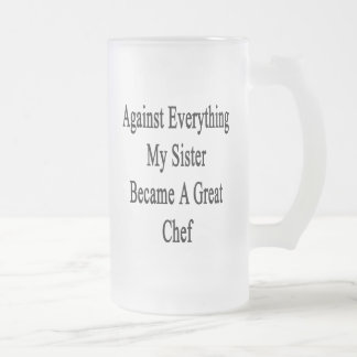 Against Everything My Sister Became A Great Chef Mug