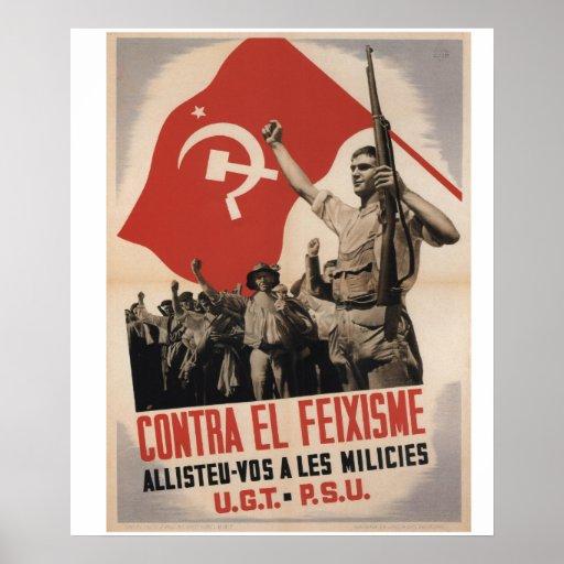 Against fascis enlist militias_Propaganda Poster