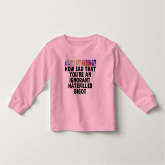 Against gay marriage? tee shirt