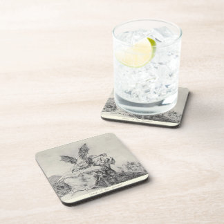 Against the common good by Francisco Goya Beverage Coaster