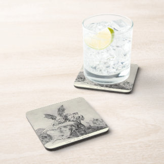 Against the common good by Francisco Goya Drink Coaster