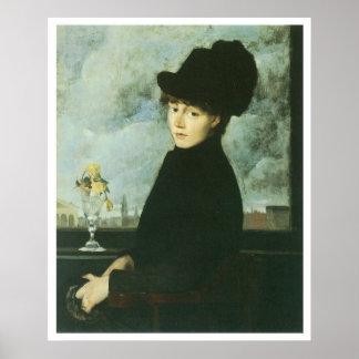 Against the Window, 1884, J. Alden Weir Poster
