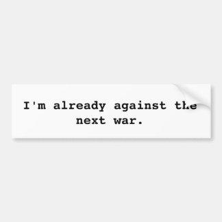 Against War Bumper Sticker