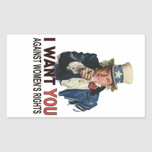 Against Women's Rights Rectangular Sticker
