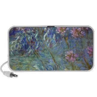 Agapanthus de Claude Monet iPod Altavoces