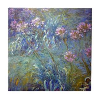 Agapanthus de Claude Monet Azulejo Cuadrado Pequeño