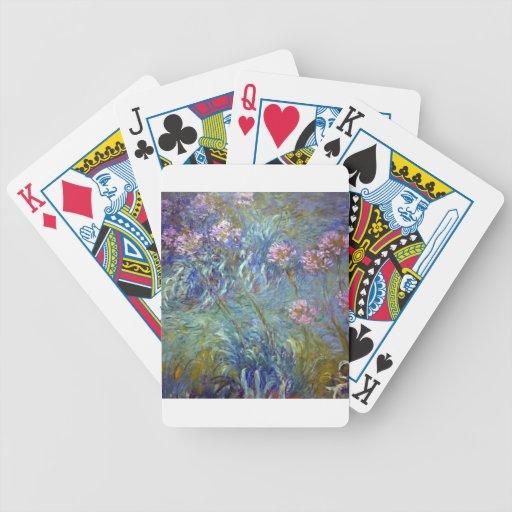 Agapanthus de Claude Monet Baraja Cartas De Poker