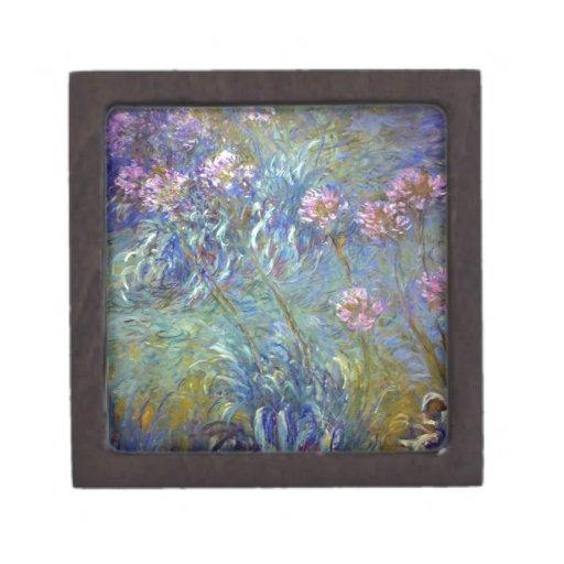 Agapanthus de Claude Monet Cajas De Joyas De Calidad