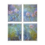 Agapanthus de Claude Monet Impresión De Lienzo