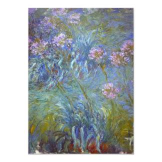 "Agapanthus de Claude Monet Invitación 4.5"" X 6.25"""