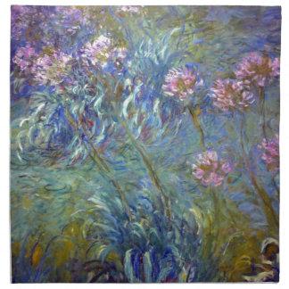 Agapanthus de Claude Monet Servilletas Imprimidas