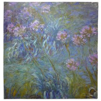 Agapanthus de Claude Monet Servilletas