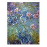 Agapanthus de Claude Monet Postal