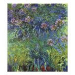 Agapanthus Flowers by Claude Monet Print