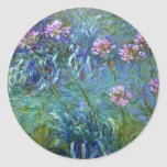 Agapanthus Flowers by Claude Monet Sticker
