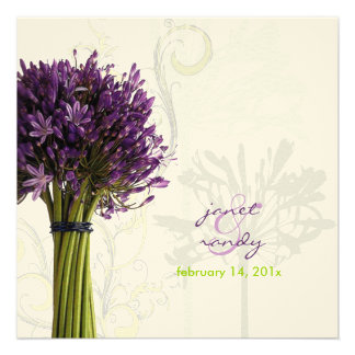 Agapanthus lime green felt stock personalized announcements