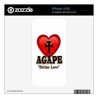 Agape heart iPhone 4S Skin