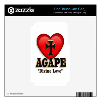 Agape heart symbol for God's divine love iPod Touch 4G Skin