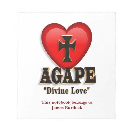 Agape Heart Symbol For Gods Divine Love Memo Note Pad