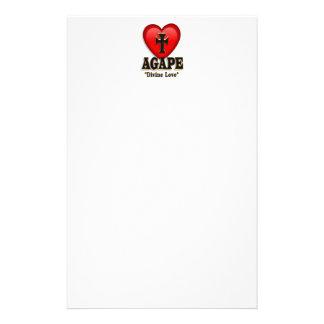 Agape heart symbol for God's divine love Stationery Paper