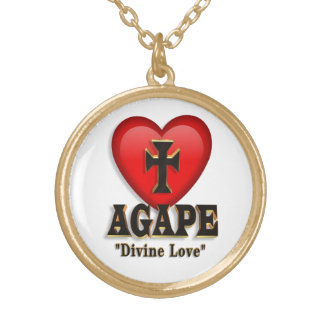 Agape heart symbol necklace