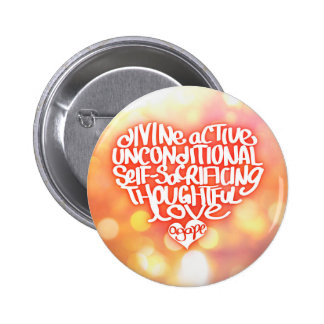 Agape Love Pinback Button