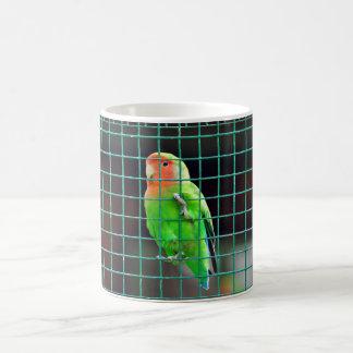 Agapornis Lovebird green bird colored small parrot Coffee Mug