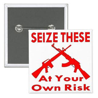 Agarre éstos (los armas) en su propio riesgo pins
