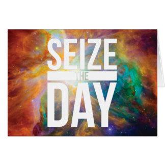 Agarre la nebulosa del día tarjeta de felicitación