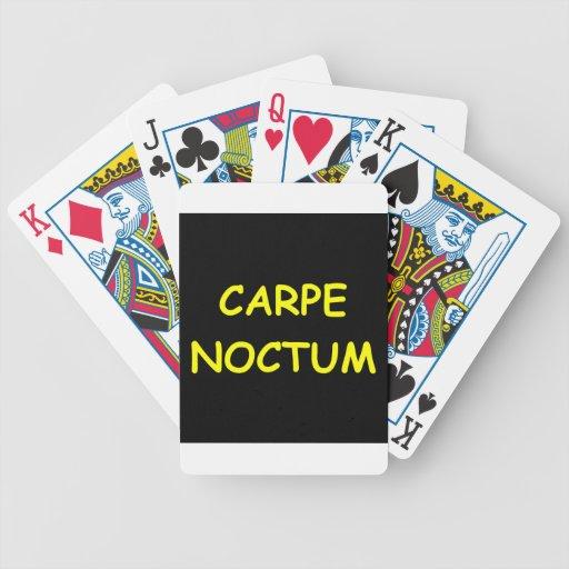 agarre la noche baraja de cartas