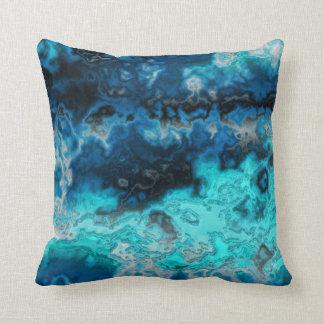 Ágata azul cojines