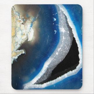 Ágata azul Geode Alfombrilla De Ratón
