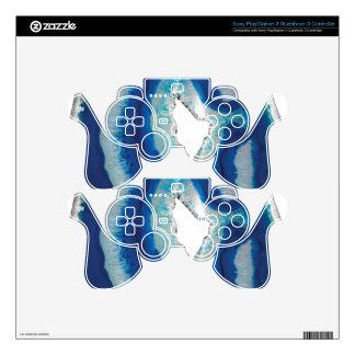 Ágata azul mando PS3 calcomanía