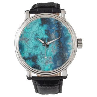 Ágata azul relojes