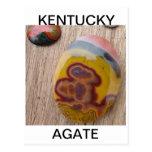 Ágata de Kentucky para los rockhounds Tarjetas Postales