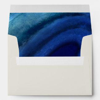 Ágata de marfil y azul sobre