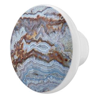 Ágata del tocino pomo de cerámica