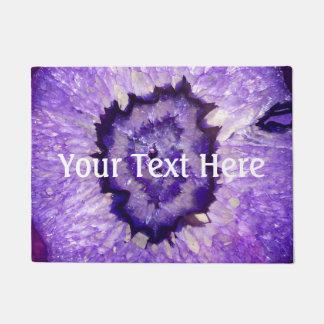 Ágata púrpura Geode de Falln Felpudo