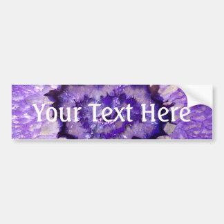 Ágata púrpura Geode de Falln Pegatina Para Auto