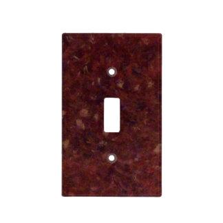 Ágata roja tapa para interruptor